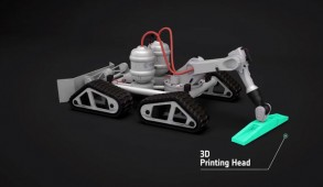 3D Maanbasis Robot Printer