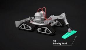 3D Maanbasis Robot Printer
